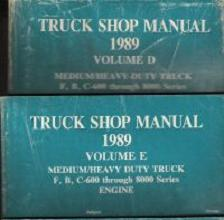 1989 Ford Medium / Heavy-Duty Truck Shop Manual: Volumes D & E - 2 Volume Set