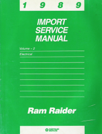 1989 Ram Raider Electrical Import Service Manual