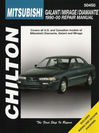 1990 - 2000 Mitsubishi, Galant, Mirage, Diamante Chilton's Total Car Care Manual