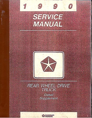 1990 Dodge Truck Diesel Supplement Manual