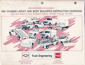 1991 GMC & Chevrolet Light & Medium Trucks Chassis Layout and Body Builder's Instruction Drawings Manual
