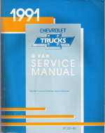 1991 Chevrlot Express & GMC Savana (G Van) Service Manual