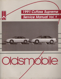 1991 Oldsmobile Cutlass Supreme Service Manual - 2 Volume Set