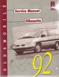 1992 Oldsmobile Silhouette Factory Service Manual
