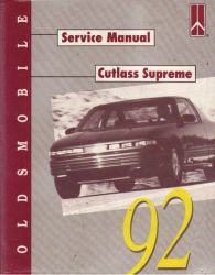 1992 Oldsmobile Cutlass Supreme Factory Service Manual