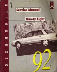 1992 Oldsmobile Ninety Eight Factory Service Manual