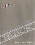 1992 Buick Roadmaster Service Manual Supplement