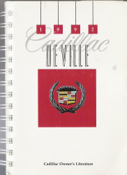 1992 Cadillac Deville Owners Manual