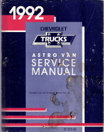 1992 Chevrolet Astro Van Service Manual