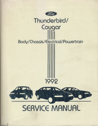 1992 Ford Thunderbird & Mercury Cougar Service Manual