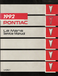 1992 Pontiac LeMans Factory Service Manual