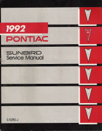 1992 Pontiac Sunbird Factory Service Manual