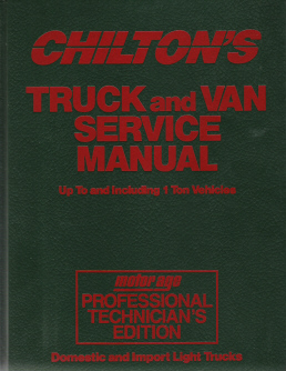 1988 - 1992 Chilton's Truck & Van Service Manual