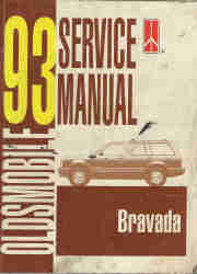 1993 Oldsmobile Bravada Factory Service Manual