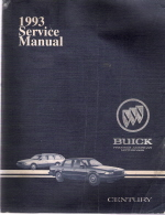 1993 Buick Century Factory Service Manual