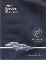 1993 Buick Roadmaster Factory Service Manual