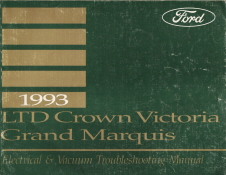 1993 Ford Crown Victoria & Mercury Grand Marquis Factory Electrical and Vacuum Troubleshooting Manual