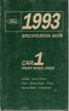 1993 All Ford Front Wheel Drive Cars - Specification Book