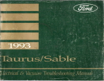 1993 Ford Taurus & Mercury Sable Electrical and Vacuum Troubleshooting Manual