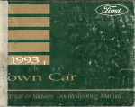 1993 Lincoln Town Car Electrical and Vacuum Troubleshooting Manual