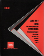1993 Light Duty Truck Fuel and Emissions Service Manual - Fuel Injected Gas Engines Only
