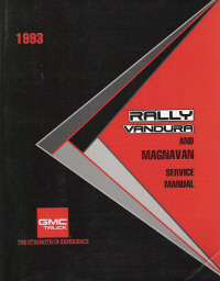 1993 Vandura, Rally & Magnavan Service Manual