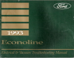 1993 Ford Econoline & Club Wagon - Electrical and Vacuum Troubleshooting Manual