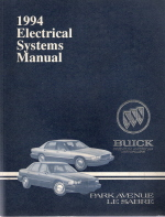 1994 Buick Park Avenue, LeSabre Electrical Systems Manual