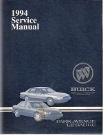 1994 Buick Park Avenue and LeSabre Factory Service Manual