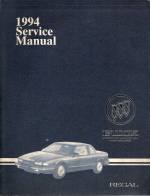 1994 Buick Regal Service Manual - 2 Volume Set