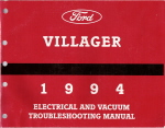 1994 Mercury Villager Electrical and Vacuum Troubleshooting Manual