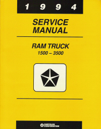 1994 Dodge Ram 1500-3500 Rear Wheel Drive Truck Service Manual
