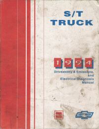 1994 Chevrolet GMC S/T S-10, S-15, Blazer & Jimmy Truck Driveability, Emissions and Electrical Diagnosis Service Manual