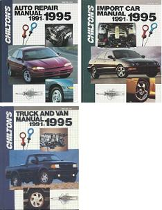 1991 - 1995 Chilton's Repair Manual Set (3 Manuals)