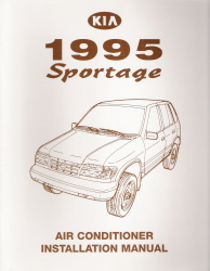 1995 Kia Sportage Air Conditioner Installation Manual