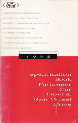 1995 Ford Passenger Car Specification Book