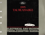 1995 Ford Taurus & Mercury Sable Electrical and Vacuum Troubleshooting Manual