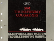 1995 Ford Thunderbird & Mercury Cougar - XR7 Electrical and Vacuum Troubleshooting Manual (EVTM)