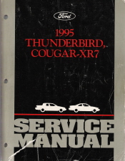 1995 Ford Thunderbird & Mercury Cougar - XR7 Factory Service Manual