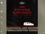 1995 Ford Windstar Electrical and Vacuum Troubleshooting Manual Supplement
