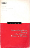 1995 Ford Cargo, F and B 700-800-900 and L-Series Medium/Heavy Duty Trucks - Specification Book
