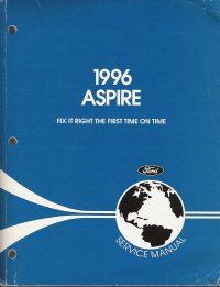 1996 Ford Aspire Service Manual