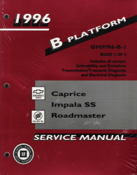 1996 Chevrolet Caprice, Impala, Belair and Buick Roadmaster Factory Shop Manual