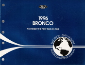 1996 Ford Bronco Electrical and Vacuum Troubleshooting Manual