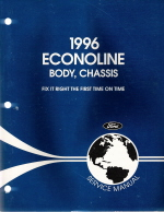 1996 Ford Econoline Body, Chassis and Powertrain, Drivetrain Manual - 2 Volume Set