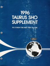 1996 Ford Taurus Sho Factory Service Manual Supplement