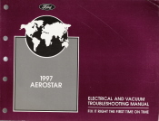 1997 Ford Aerostar Electrical and Vacuum Troubleshooting Manual
