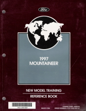 1997 Mercury Mountaineer New Model Training Reference Book