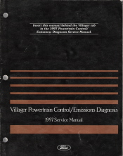 1997 Mercury Villager Powertrain Control/Emissions Diagnosis