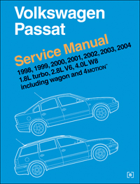1998-2005 Volkswagen Passat (1.8L turbo, 2.8L V6, 4.0L W8 including Wagon and 4MOTION) Service Manual